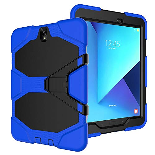 GHC PAD Cases & Covers For Samsung Galaxy Tab S3 9.7 T820 T825 SM-T820, Silicon Flip Stand Case Shockproof Kickstand Tablet Cover For Samsung Galaxy Tab S3 9.7 (Color : BL)