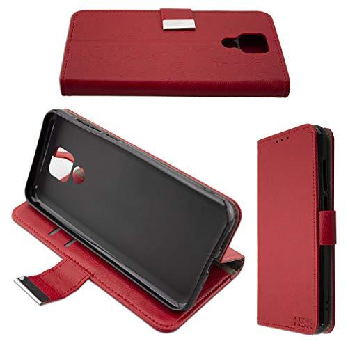 caseroxx Tasche für Ulefone Power 6 Bookstyle-Hülle in rot Cover Buch