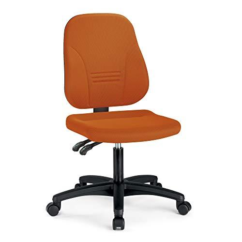 prosedia® Younico Plus 3 – Top Bürostuhl/Schreibtischstuhl – sehr ergonomisch - Made in Germany - TÜV Rheinland geprüft und Zertifiziert (Ohne Armlehnen, Orange)