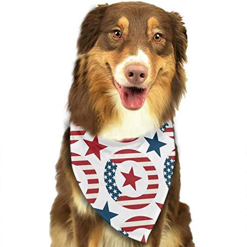iuitt7rtree Waschbarer Kranz mit Symbolen der US-Fahne Dreieck, einzigartiges und nie veraltetes Halstuch, Zubehör für Hunde und Katzen