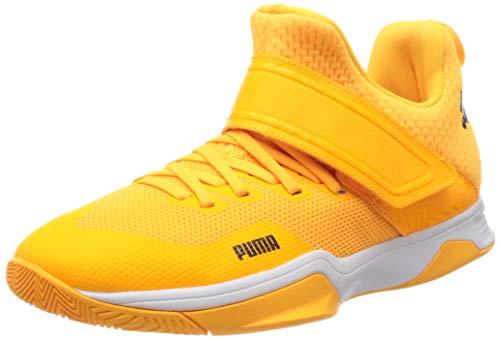 Puma Unisex-Erwachsene Rise Xt Eh 3 Fußballschuhe, Orange (Orange Alert Black White 01), 48.5 EU