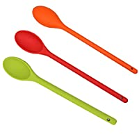cucchiai da cucina in silicone, resistenti al calore, 3 pezzi