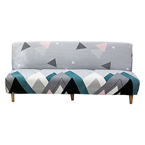 ZHFEL Printed Futon Slipcover Full size,Stretch 3 Seater Sofa Bed Slipcover Protector Dust-Proof Washable Anti-Scratch Without Armrests Slipcover for Foldable Sofa Bed-B