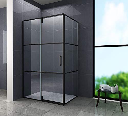 Duschkabine FABRICO 120 x 80 x 195 cm ohne Duschtasse