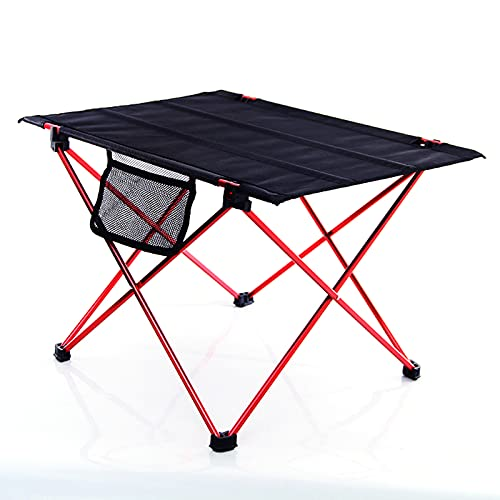 5665 Mesa de Camping Plegable Ultraligera, Mesas de Campamento Enrollables Compactas Portátiles, con Bolsa de Transporte para Acampar Al Aire Libre, Senderismo, Picnic