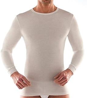 2 Maglie Girocollo Uomo Manica Lunga LIABEL Art.02828/333 Caldo Cotone Bianco E Nero dalla 3 alla 7