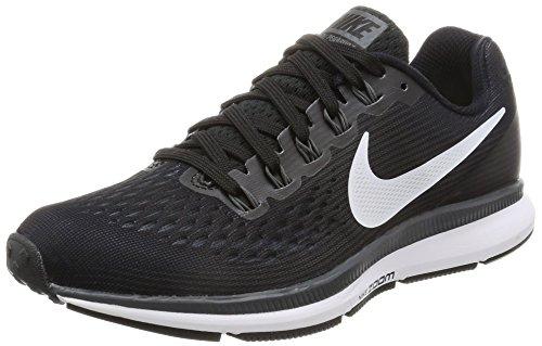 Nike Wmns Air Zoom Pegasus 34, Zapatillas de Entrenamiento para Mujer, Negro (Black/white/dk Grey/anthracite), 36.5 EU
