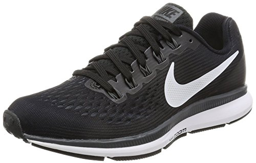 Nike Womens Air Zoom Pegasus 34 Black/White/Dark Grey/Anthracite Running Shoes (8)