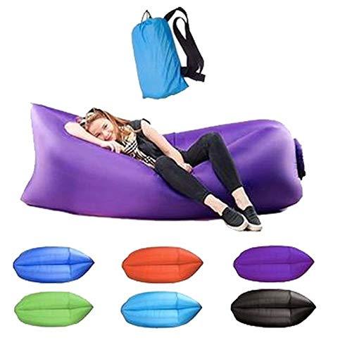 Wang nuevo saco de dormir ligero y resistente al agua saco inflable sofá perezoso saco de dormir para camping colchón de aire para adultos cama playa silla de ocio silla rápida plegable