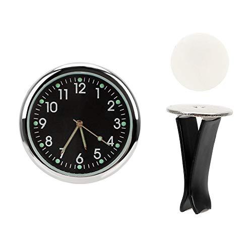 CNSD Salida de Aire Luminoso Relojes de Cuarzo decoración del Reloj del Coche-Styling Ornamentos del Coche Electrónica (Color Name : Black)