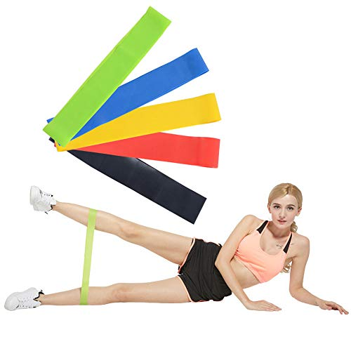 Greenf Resistance Loop Exercise Bands, Resistance Bands, Physical Therapy, Strength Training, Stretching, Home Fitness, Yoga, Set of 5