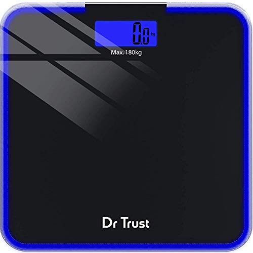 Dr Trust (USA) Electronic Supernova Digital Personal Weighing Scale for Body Weight (Black)