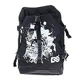 perfk Large Backpack for Roller Skates Inline Speed Skates Storage Bag Outdoor Skating Shoes Boots Holder - A