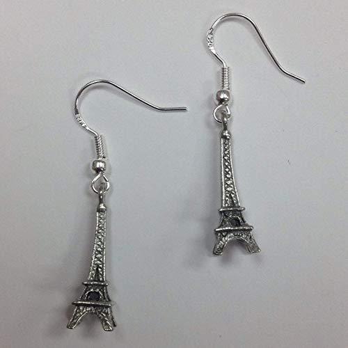 Eiffel Tower Paris Earrings, on sterling silver earwires