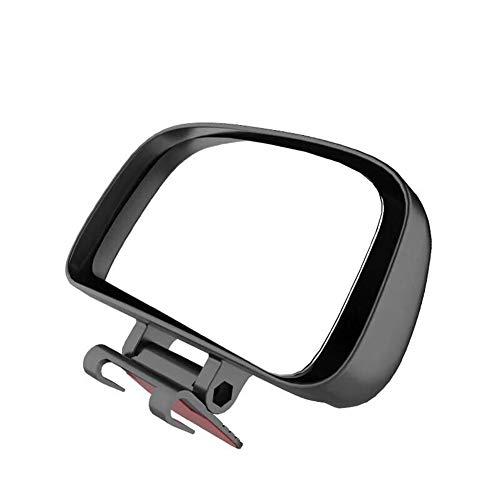 LSGGTIM Espejo retrovisor Auxiliar, Ajustable Del Espejo Retrovisor Del Coche De Punto Ciego Espejo Lente Gran Angular De Estacionamiento Auxiliar Espejo,(negro)