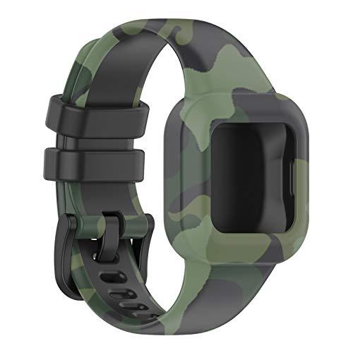 BST&BAO Pulsera de Repuesto Compatible con el Reloj Inteligente Garmin Fit JR3, Silicona Variedad de Colores Pulsera Deportiva de Repuesto Pulseras de Banda