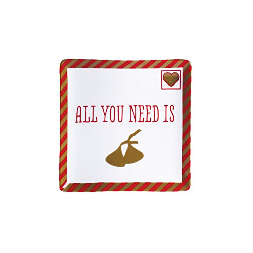"""All You Need Square Dish, White, 5"""""""