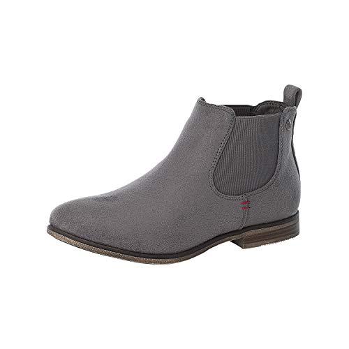 Rieker Damen Stiefeletten, Frauen Chelsea Boots, Stiefel halbstiefel Bootie Schlupfstiefel,Grau(Grey),38 EU / 5 UK