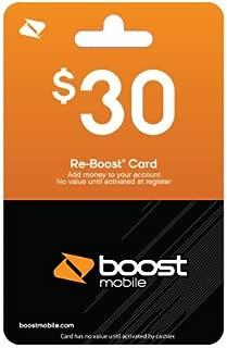 Boost Mobile $30.00 Reboost Prepaid Refill Card