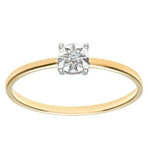 Naava Damen-Ring 9 K 375 Gelbgold Diamant Gr. 54 (17.2) PR09510Y-N