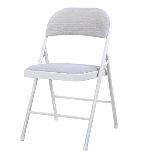 KSUNGB Engrener Chaise à Langer Respirante Dossier de la Maison Chaise d'ordinateur Chaise Pliante décontractée Chaise de dortoir Président de la conférence, Gray
