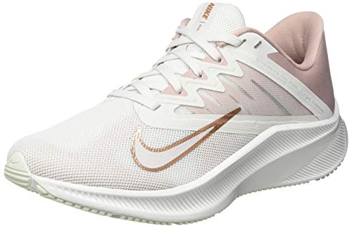 Nike Wmns Quest 3, Scarpe da Corsa Donna, Platinum Tint/Mtlc Red Bronze-Stone Mauve, 40 EU