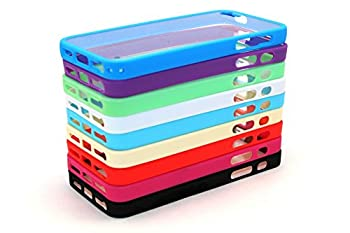 iPhone 4 4S Case Colorful TPU Hard Cover Cases for iPhone 4 or 4s Multiple Bundle Hybrid Slim Protective Shell Cases for iPhone 4 or 4s Bumper Covers -  9pcs TPU Clear PC Cases