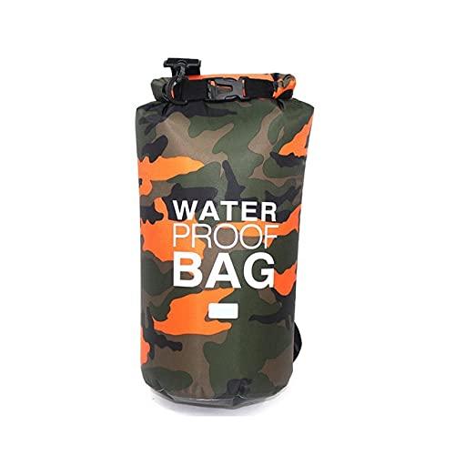 YUBIN Bolsa Seca Impermeable de PVC 5L 10L 20L 30L Buceo al Aire Libre Plegable Hombre Mujer Bolsa de natación en la Playa Rafting River Ocean Mochila
