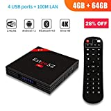 Android TV Box 4GB 64GB EstgoSZ H96 Max TV Box Android 7.1 RK3328 CPU Support 2.4G/5G Dual Wifi/100M LAN/BT 4.0/3D /H265/4 USB 4K Smart Android Box
