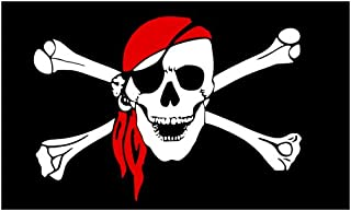 comprar comparacion Bandera Pirata con Calavera y Bandana 1.5m x 0.90cm