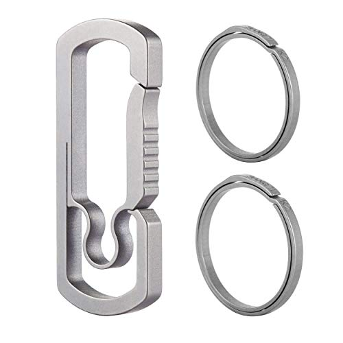 BANG TI Titanium Anti-lost Keychain Hook and Quick Release Keyrings Kit (C1+2K2)