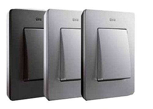 Simon - 8200610-238 marco 1 elem detail grafito base aluminio Ref. 6558402001