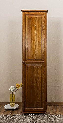 Schrank Kiefer Vollholz massiv Eichefarben 004 - Abmessung 190 x 47 x 60 cm (H x B x T)