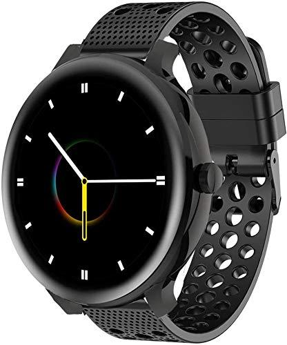 SkyBand Respirable Deporte Silicona Clásico Correas Compatible para Smartwatch Blackview X2 (Negro)