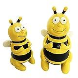 OF Gartenfiguren süsse Bienen im Set - Dekofigur Biene für außen - Wetterfest (13 & 16 cm im Set)