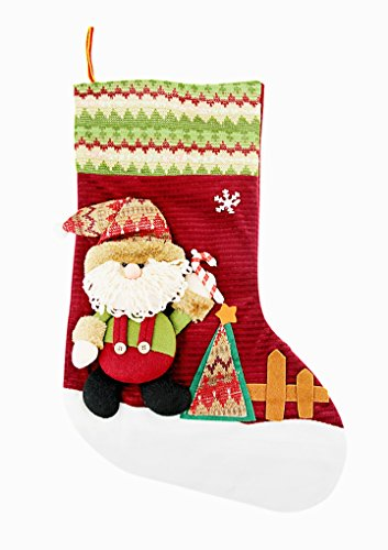 Cadeau Noël Créatif Chaussette Bas de Noël à Suspendre Peluche Motif Bonhomme de Neige Socks Sac Chaussettes de Noël