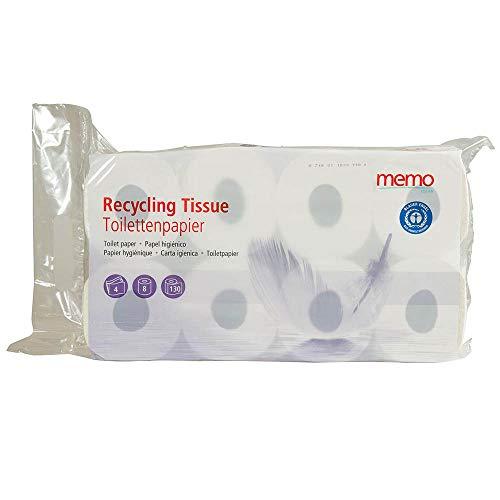 Memo Recycling Tissue - Toilettenpapier 4lagig 200Blatt (8erPack)