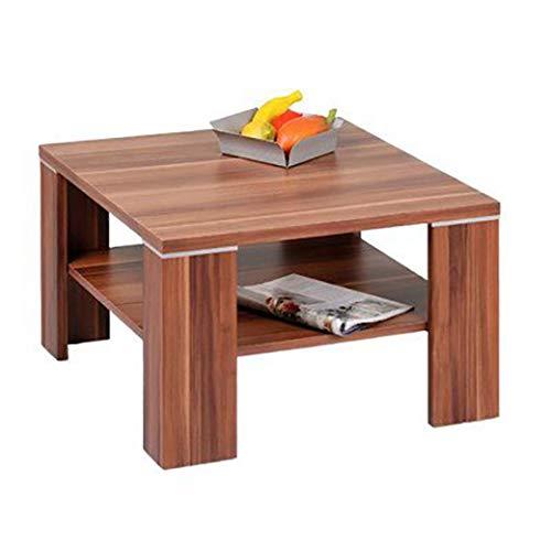 Alfa-Tische Beistelltisch Santos | In Walnuss | Mit Ablageboden | 70 x 70 cm | M2080