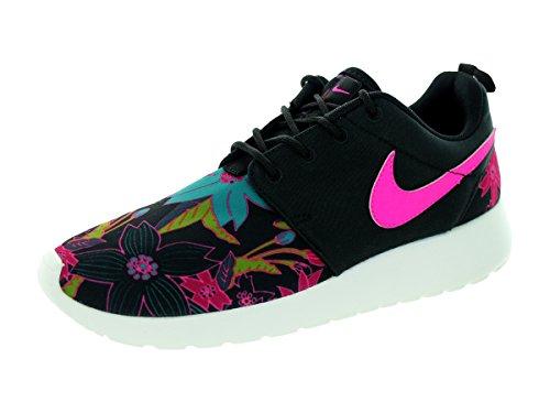 Scarpe da ginnastica Nike Roshe One Print Premium, blu, nero (Black/Pink Foil-Sail), 36.5
