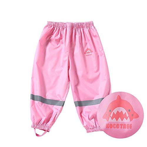 UKKD Chubasquero para niños Pantalones De Lluvia para Niños, Niños Y Niñas, Pantalones Impermeables del Bebé, Pantalones De Lluvia Infantil