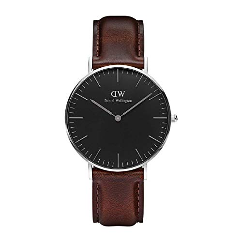 Daniel Wellington Unisex Analog Quarz Uhr mit Leder Armband DW00100143