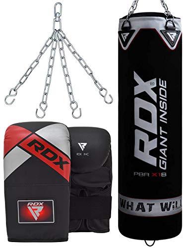 RDX Saco de Boxeo Relleno MMA Muay Thai Kick Boxing Artes Marciales...