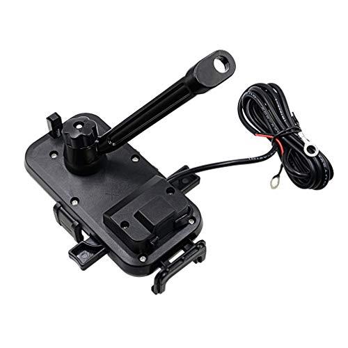 Hemobllo Motorrad handyhalterung Fahrrad handyhalter Anti-Shake handyhalter 360 rotierenden handyhalter für Fahrrad Auto USB schnellladung schwarz (Spiegel Stand typ)