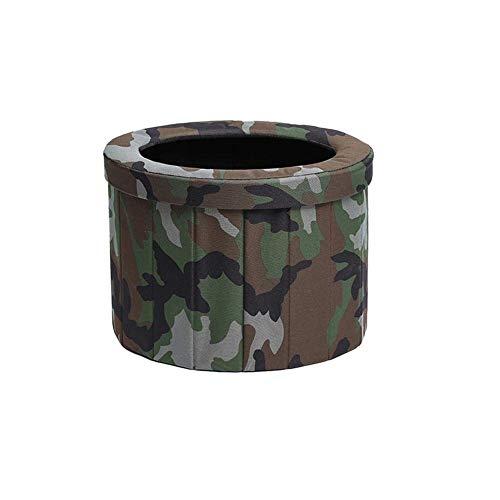 WBTY - Mini vasino portatile pieghevole per esterni, campeggio, viaggi, termoretraibile, per adulti, campeggio, auto, WC lavabile