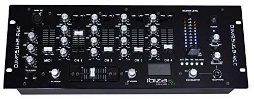 Ibiza DJM95USB-REC Table de mixage Noir