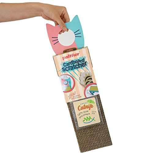 JOOEE Cat Scratch Cardboard, Scratcher with Catnip, Cat Toy Scratch Board, Door Hanging High-Density BB Pit Corrugated Paper Environmentally Friendly Scratch-Resistant Catnip Toys for Cats
