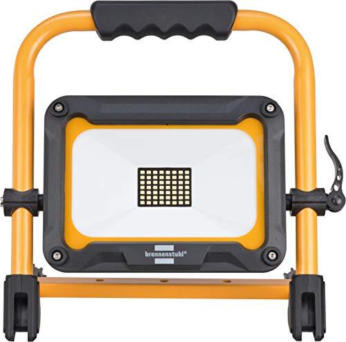 Brennenstuhl Projecteur LED Portable JARO Rechargeable 30W (3000 Lumen, Utilisation en Interieur et Extérieur IP54, 3 Modes Eclairage, Autonomie max 14h), Noir & Jaune