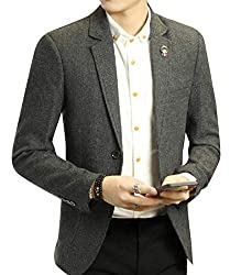 We and VMen Mens Easy Care Merino Regular Fit Two-Button Blazer Coat