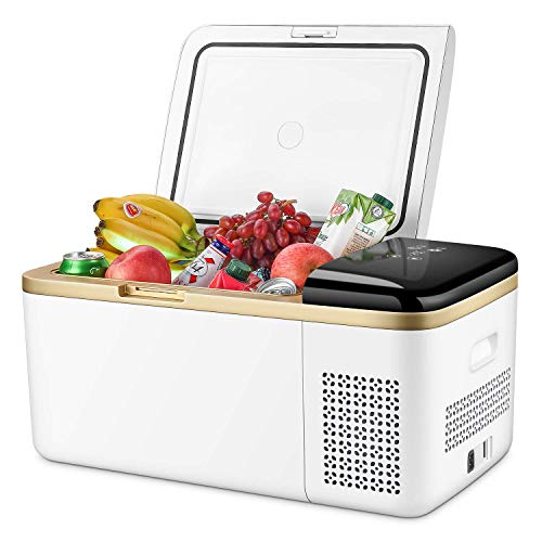42 Quart Portable Refrigerator Freezer Compact Car Fridge Electric Cooler Chest Freezer for Truck,RV,Boat,Van,Trailer Car Use Only 12/24V DC,Cooling from 68¡ãF to -13¡ãF(White)