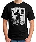 35mm - Camiseta Hombre Mad MAX - Pelicula De Culto - 80's - Negro - Talla XXL